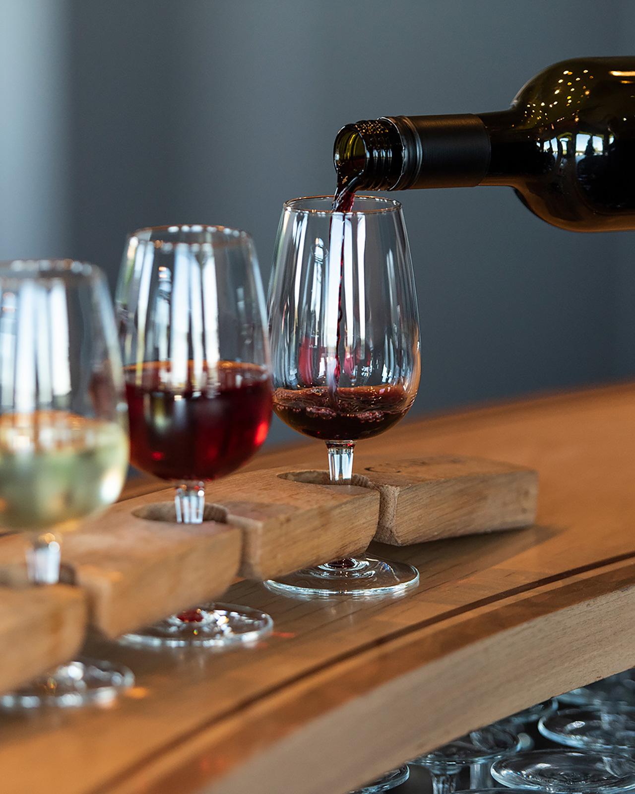 Coffin Ridge Wine Samples